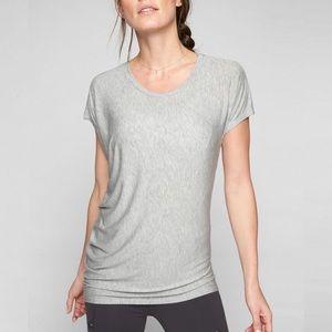 Athleta Threadlight Asymmetrical Jersey Tee Top